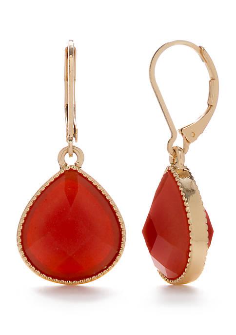 Napier Gold Tone Teardrop Earrings
