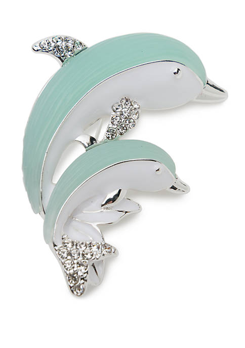 Boxed Double Dolphin Pin