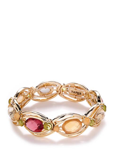 Oval Link Stretch Bracelet