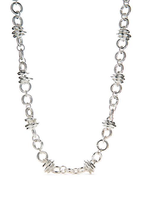 Napier Silver Tone Collar Necklace