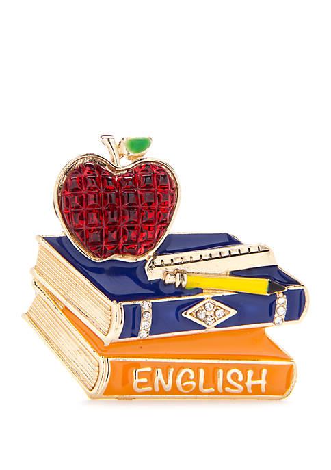 Napier Boxed School Book Pin