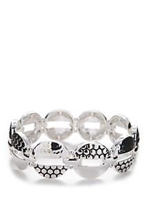 Napier Silver Tone Link Stretch Bracelet