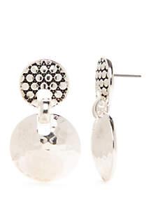 Napier Doorknocker Stud Earrings