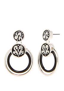 Napier Double Orbital Drop Earrings