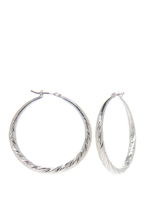 Napier Large Wrap Hoop Earrings