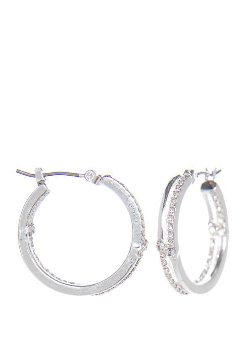 Napier Click It Hoop Earrings