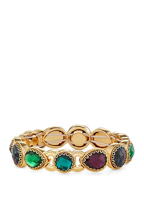 Napier Gold Tone Multi Stretch Bracelet