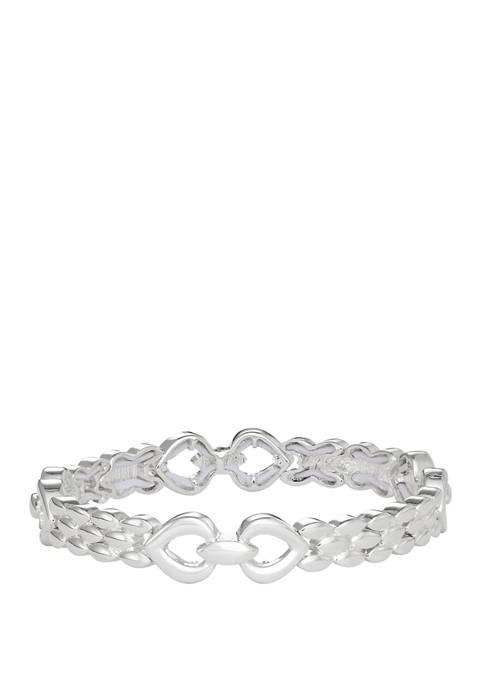Napier Silver-Tone Pod Stretch Bracelet