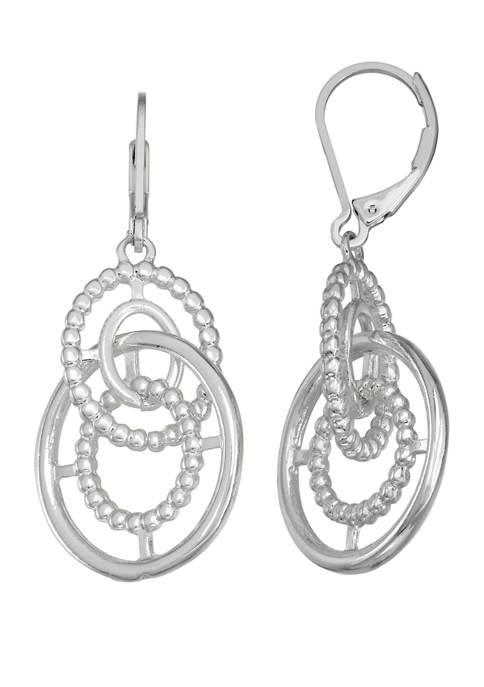 Napier Silver Tone Double Drop Earrings