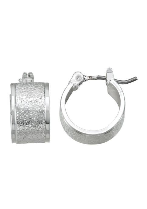 Napier Silver Tone XS Hoop Earrings