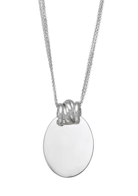 Napier Silver Tone 18 Inch Pendant Necklace