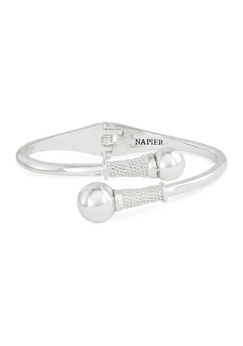 Napier Silver Tone Hinge Bracelet
