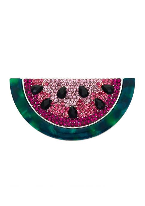 Napier Boxed Silver Tone Multi Watermelon Pin