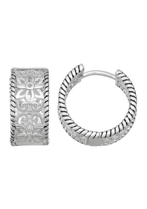Napier Silver-Tone Huggie Hoop Earrings