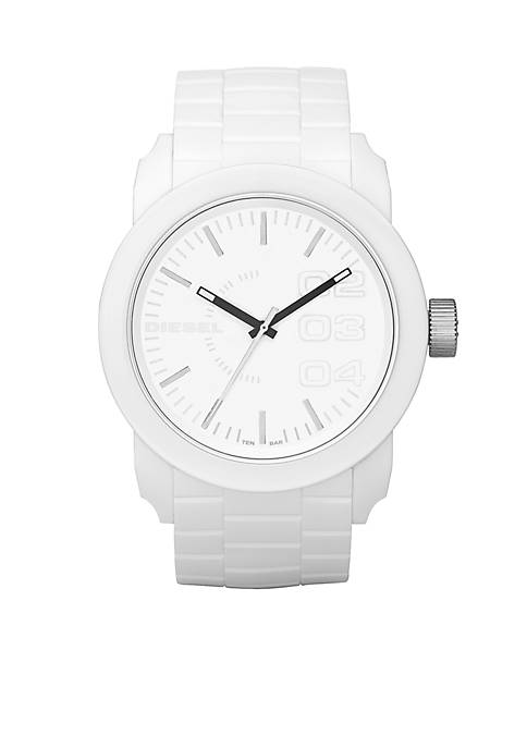 Diesel Mens All White Round Dial with White