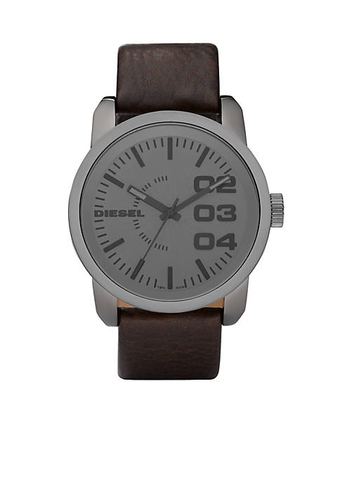 Diesel Mens Large Round Grey Dial with Dark