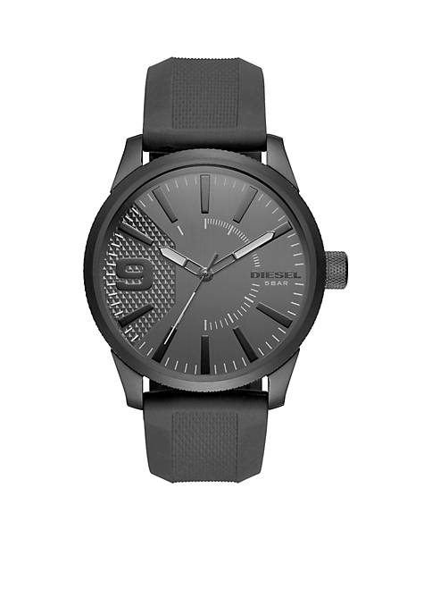 Diesel Mens Silicone Three-Hand Watch