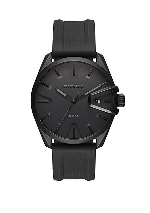 Diesel NSBB Three Hand Black Silicone Watch
