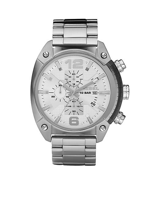 Diesel Mens Stainless Steel Bracelet and White Chronograph