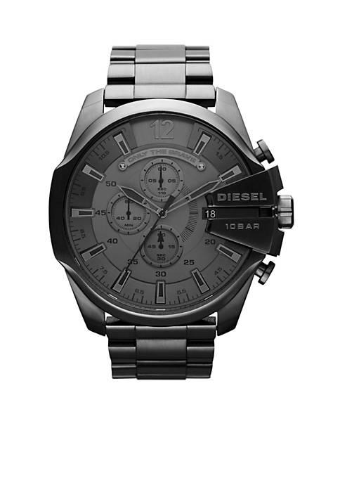 Diesel Mens Gunmetal Stainless Steel Mega Chief Watch