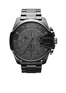 Diesel Men's Gunmetal Stainless Steel Mega Chief Watch