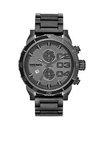 Men's Gunmetal Round Chronograph Stainless Steel Bracelet Watch