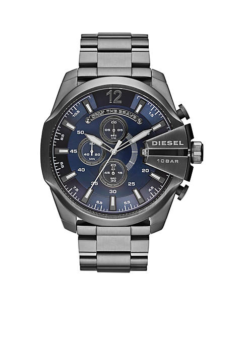 Diesel Mens Gunmetal Stainless Steel Mega Chief Chronograph