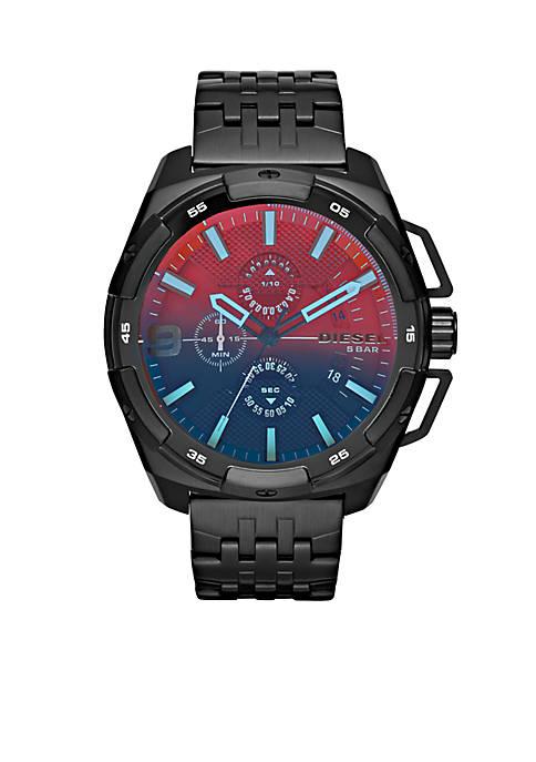 Diesel Mens Heavyweight Black Chronograph Watch