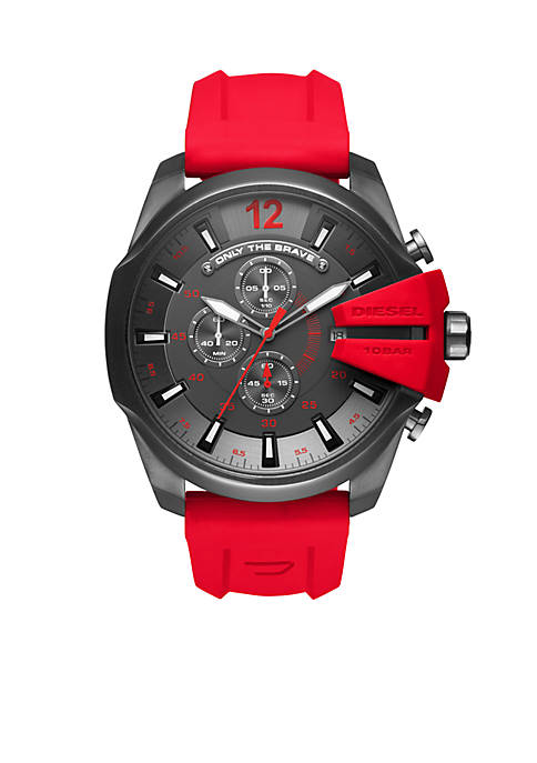 Diesel Mens Silicone Chronograph Watch