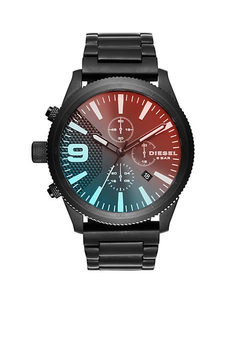 Diesel Mens Rasp Black Chronograph Watch