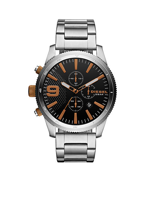 Diesel Rasp Chrono 46 Stainless-Steel Chronograph Watch