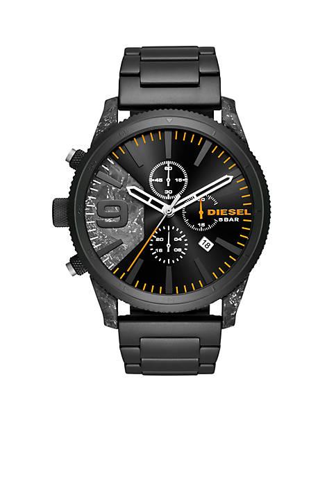 Diesel Mens Chronograph 50 Black IP Watch