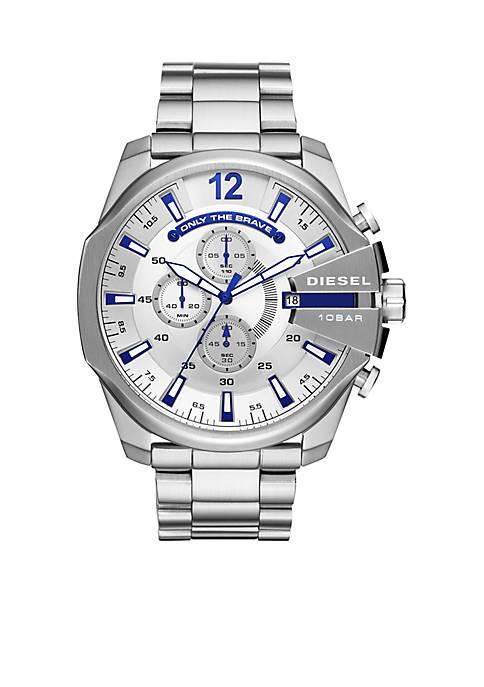 Diesel Stainless Steel Mega Chief Chronograph Bracelet Watch