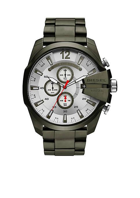 Diesel Green Stainless Mega Chief Watch