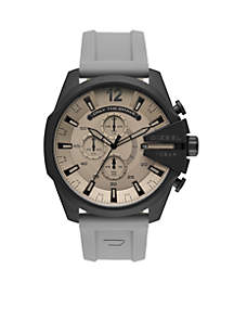 Mega Chief Analog Gray Silicone Watch