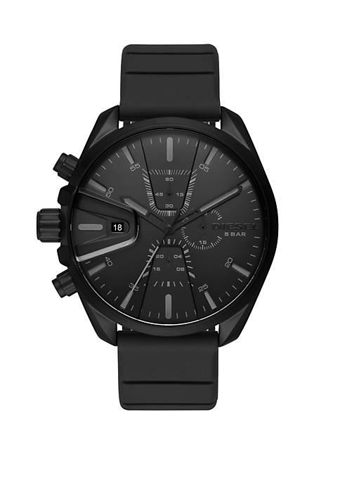 MS9 Chrono Chronograph Black Silicone Watch