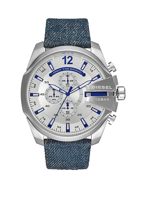 Diesel Blue Denim Mega Chief Watch
