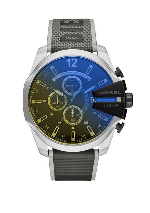 Diesel Mens Mega Chief Chronograph Black Nylon Watch