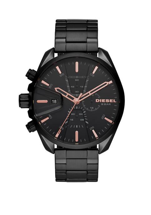 Diesel Mens Chronograph MS9 Black Stainless Steel Bracelet