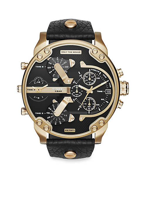 Diesel Mens Mr. Daddy 2.0 Gold-Tone and Black