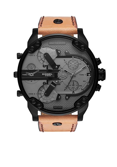 Diesel Mens Stainless Steel Mr. Daddy 2.0 Chronograph