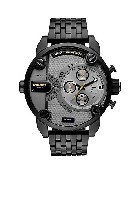 Diesel Mens Stainless Steel Little Daddy Black IP