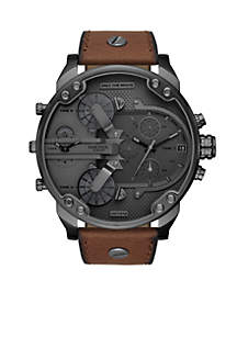 Diesel Mr. Daddy 2.0 Chronograph Brown Leather Watch