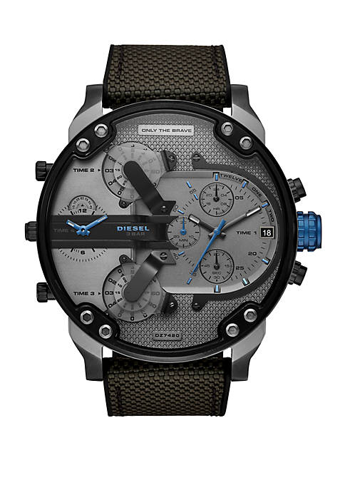 Mr. Daddy 2.0 Chronograph Black and Gray Silicone Watch