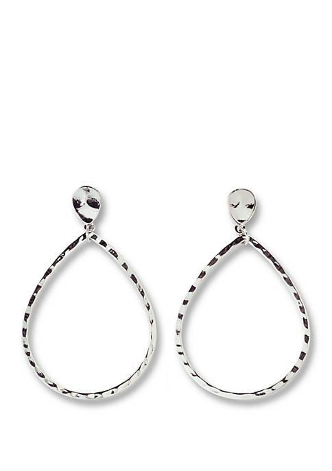 Hammered Teardrop Earrings