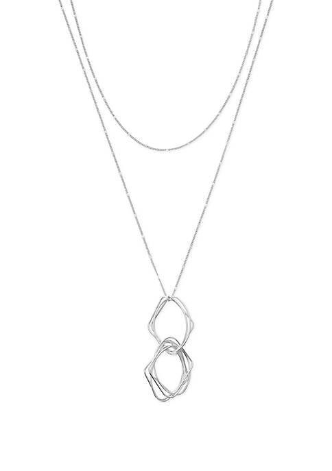 New Directions® Interlocking Geometric Pendant Necklace