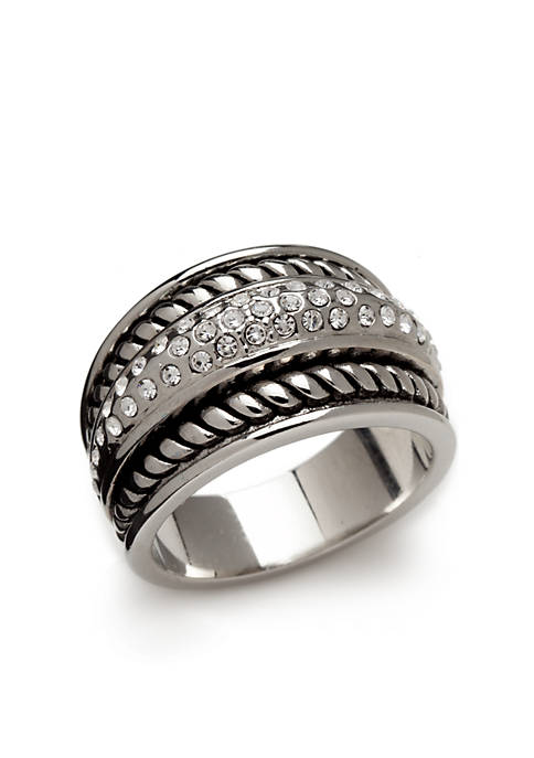 Kim Rogers® Silver Tone Antique Twist Ring