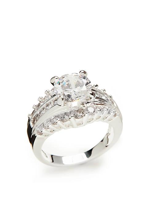 Silver Tone Wedding Ring