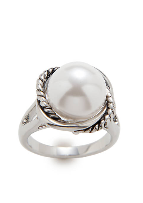 Kim Rogers® Boxed Rope Pearl Ring