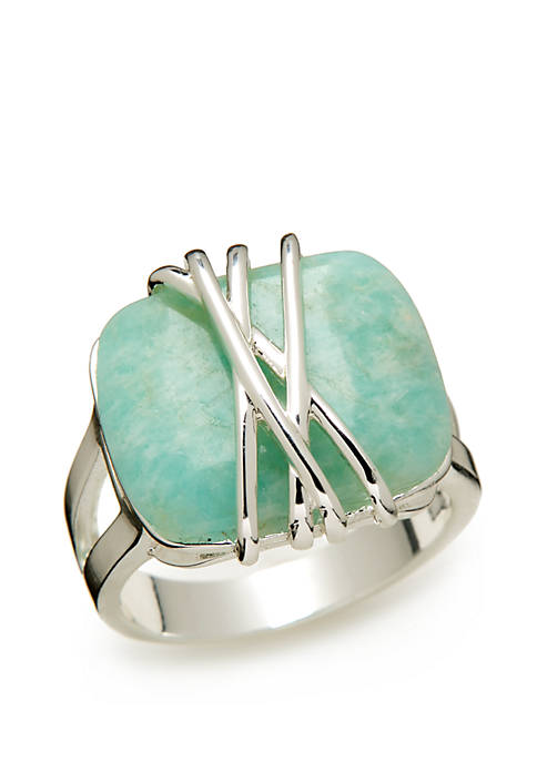 Genuine Stone Wrapped Ring